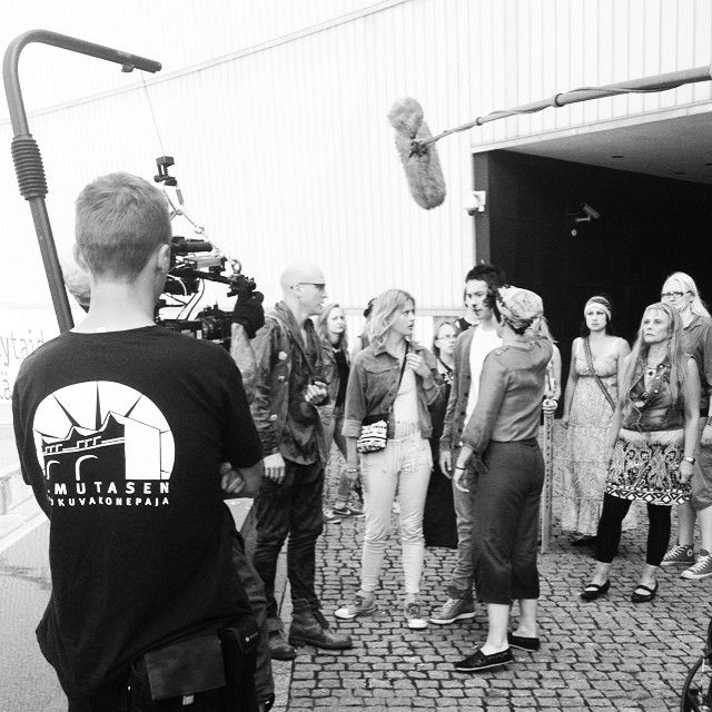 Denim Lady -bag (Tram) on the movie set in Helsinki. Action! (Vapaita is finnish music film)