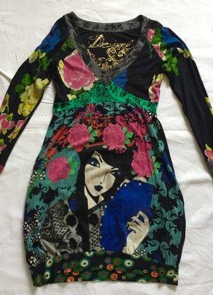 À vendre sur #vintedfrance ! http://www.vinted.fr/mode-femmes/midi/54320766-robe-desigual-forme-boule-taille-m-bon-etat