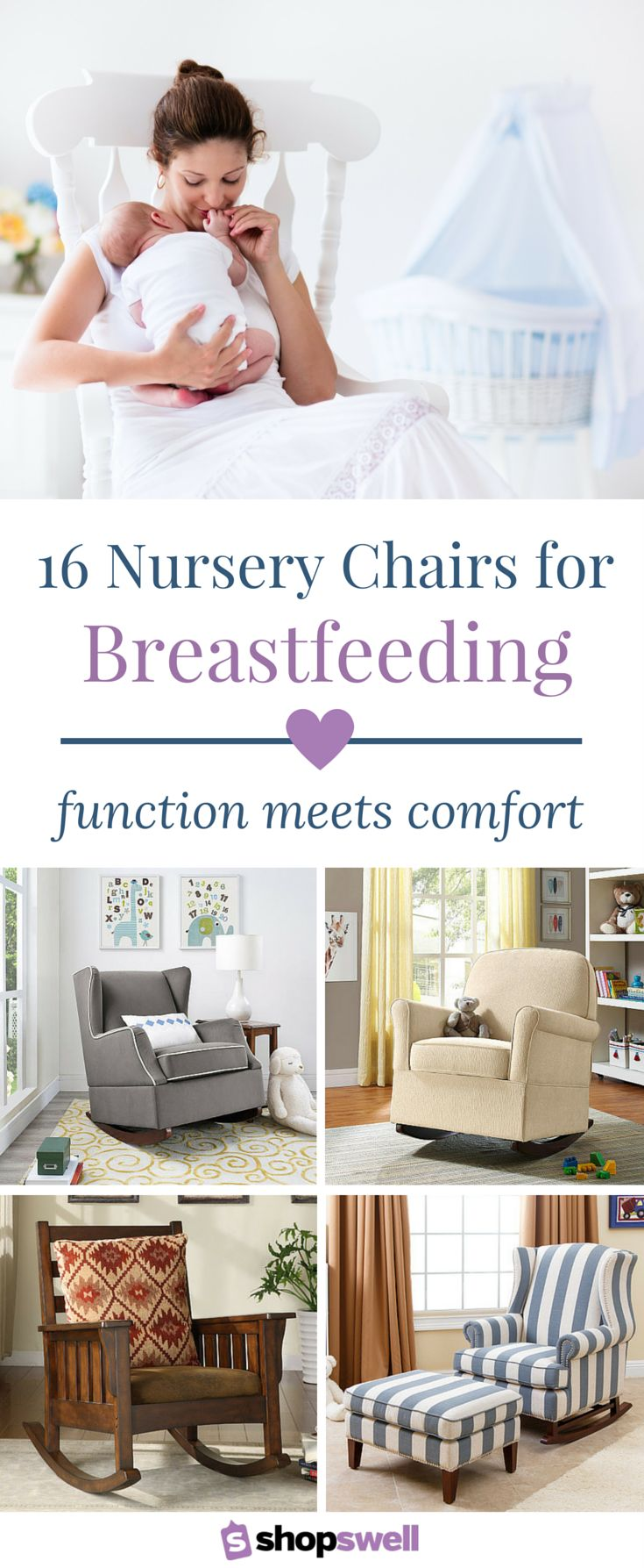 Having the perfect chair while breastfeeding or a comfy spot in the nursery to rock your baby back to sleep is probably the most important item you'll want available when you bring your newborn home. Shop the collection now!