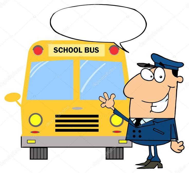 Cartoon school bus driver — Stock Vector © HitToon #61082353