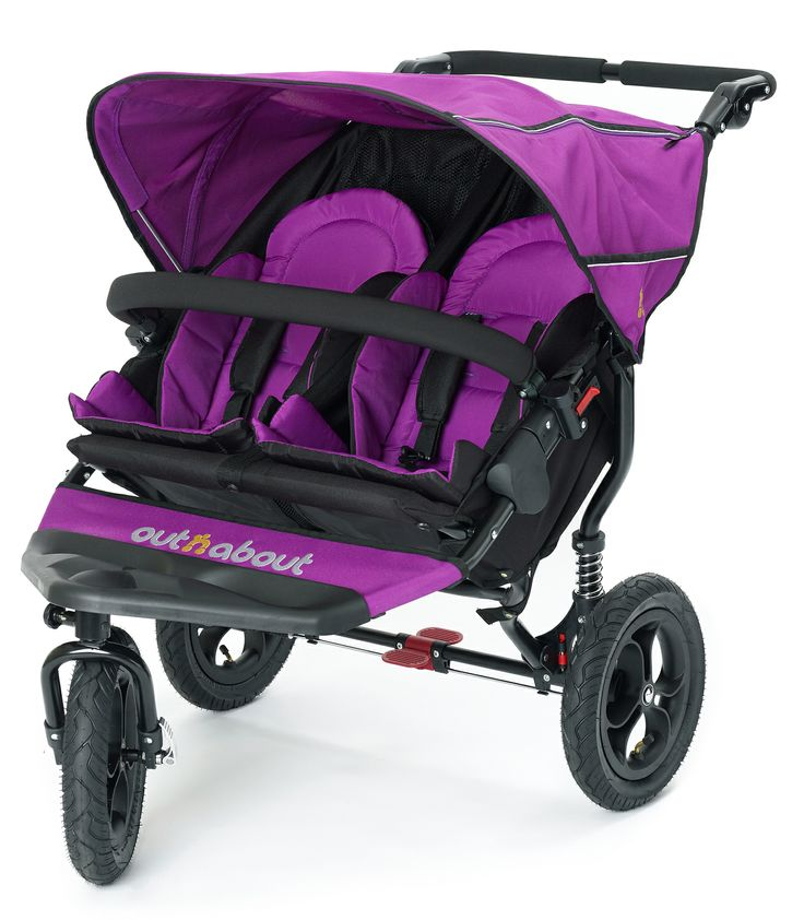 Out n About Nipper V3 Double Pushchair - Purple Punch | Kiddicare ***want**