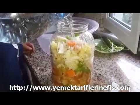 Beyaz Lahana Turşusu Nasıl Yapılır? - www.yemektariflerinefis.com - YouTube