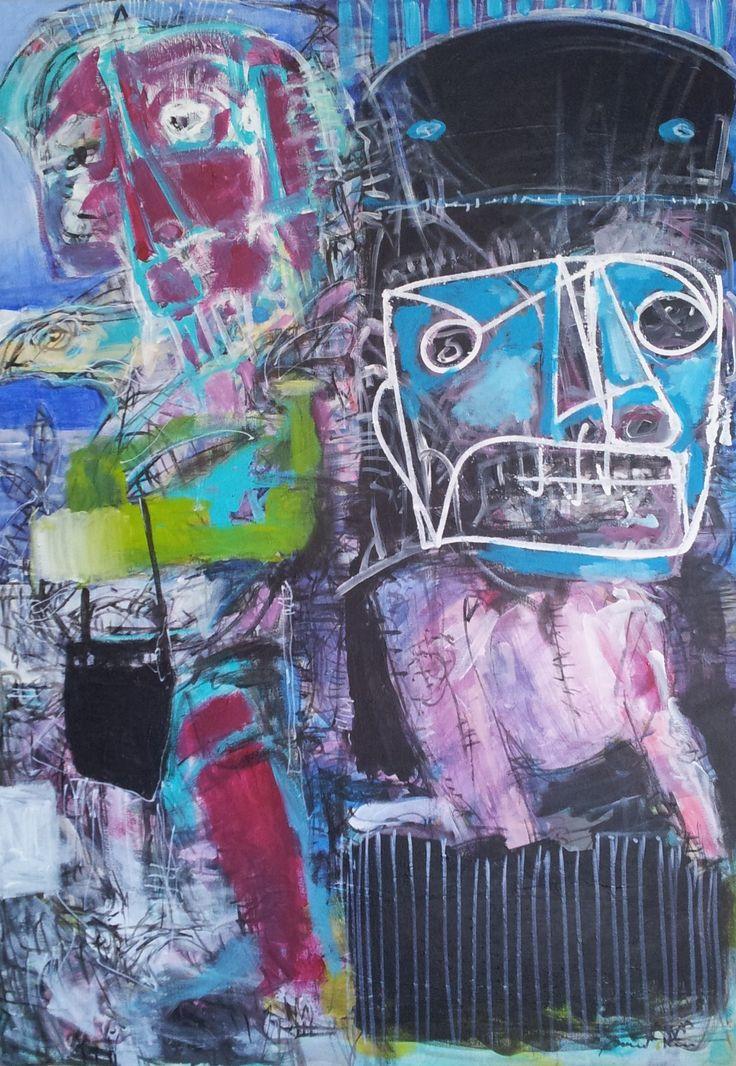 Pawel Kin - healer (acrylic on canvas)