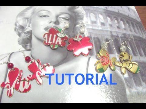orecchini con le lattine tutorial ( riciclo creativo )