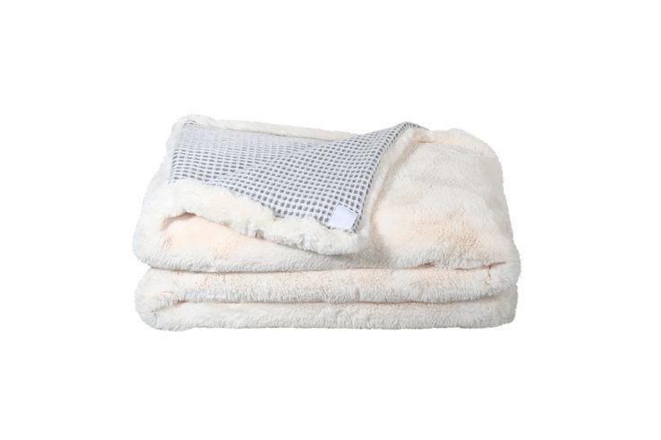 ICE BEAR MESH - Fake-Fur-Decke