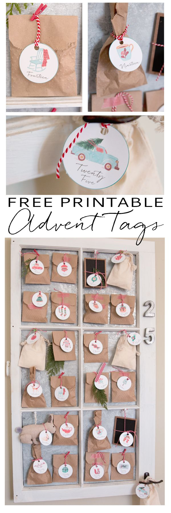 Are you like me and before you know it, it is December 1st and you really really meant to put together an Advent calendar?  More times than not, that has been the case for me.  This year however, I am so ready – and I am sharing a printable Advent calendar so that it will be super easy and quick