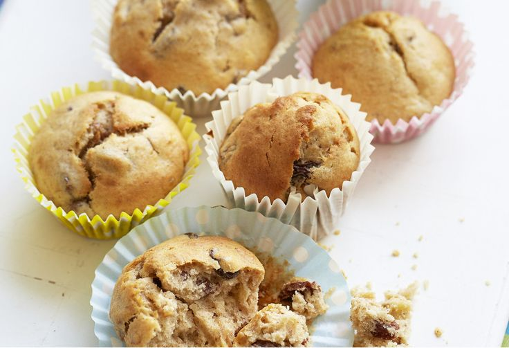 These muffins are dairy-free, nut-free and extremely yummy! These healthy baked muffins are great for school lunches.