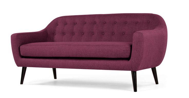 Ritchie 3 Seater Sofa, Plum Purple | made.com