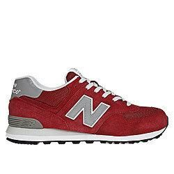 New Balance 574 Retro Sneaker (ML574VFR) - Red with Silver