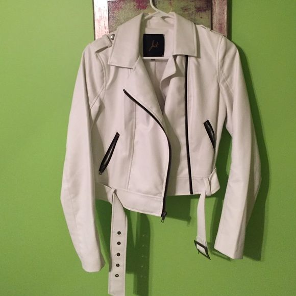 White Vegan Leather Jacket worn once,, perfect condition,, bought from Shopbop Jack by BB Dakota Jackets & Coats