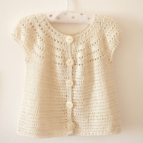 Sophie's Cardigan crochet pattern (instant download, pdf file) - sizes from 6 months up to 5 years