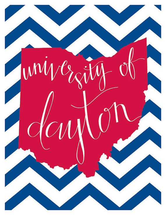 University of Dayton Print by evannicoledesigns on Etsy.  I think I am in love.