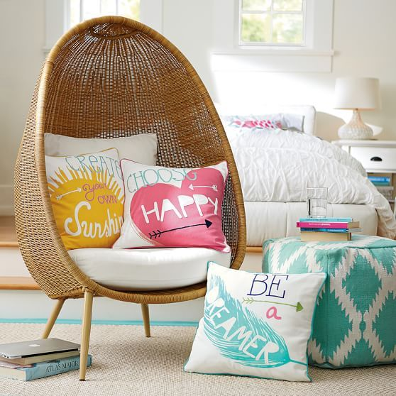 cozy cocoon lounge for your happy thoughts (and your living room)!