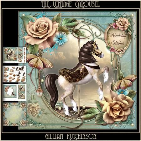 The Vintage Carousel on Craftsuprint designed by Gillian Hutchinson - Simply…