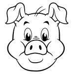 stewie the pig kids colouring page new from wwwiggleboocouk - Childrens Pictures To Colour In