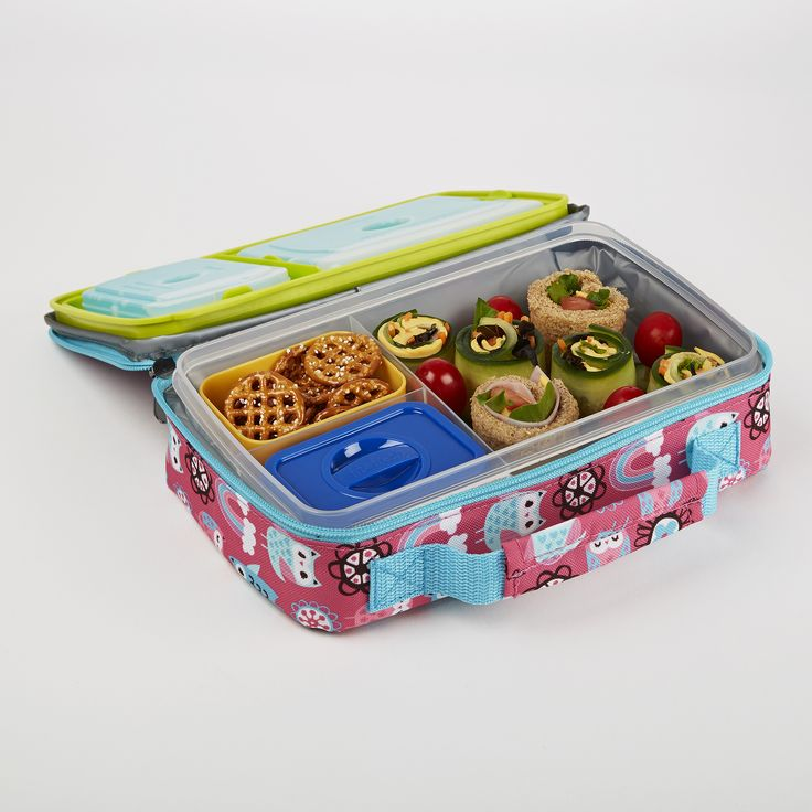 kids 39 bento box lunch set with insulated carry bag lunch kits back to and plastic containers. Black Bedroom Furniture Sets. Home Design Ideas