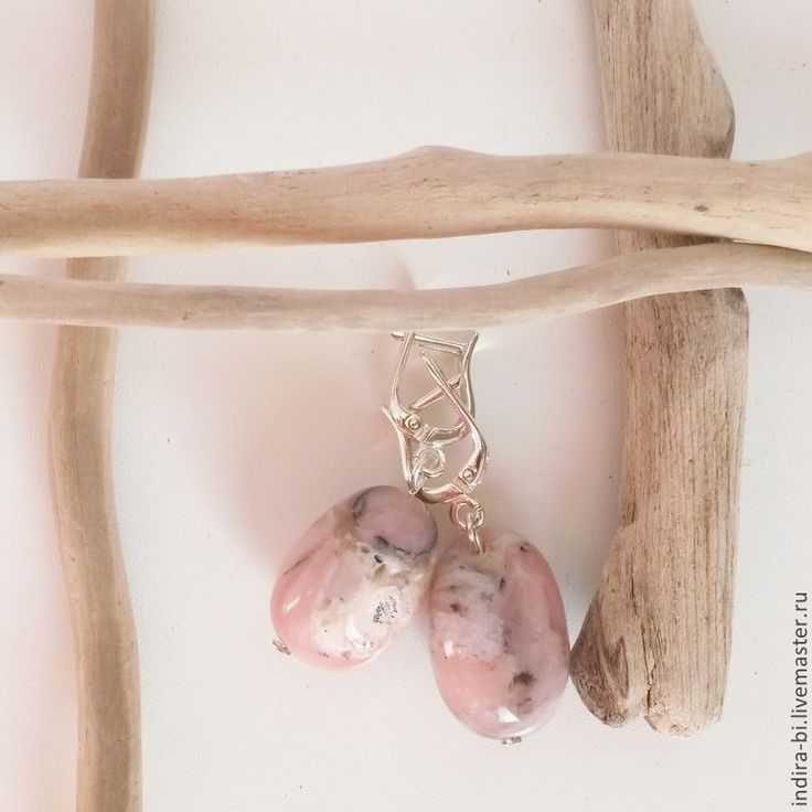 Купить Шерли с натуральными камнями опалом - натуральные камни, гипоаллергенные швензы, подарок девушке, белый
