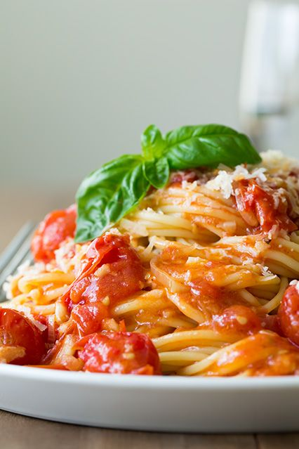 Olive-Oil-Poached Cherry Tomato Sauce - Cooking Classy
