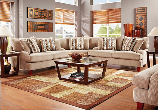 Shop for a weston mills 6 pc sectional living room at for 6 pc sectional living room