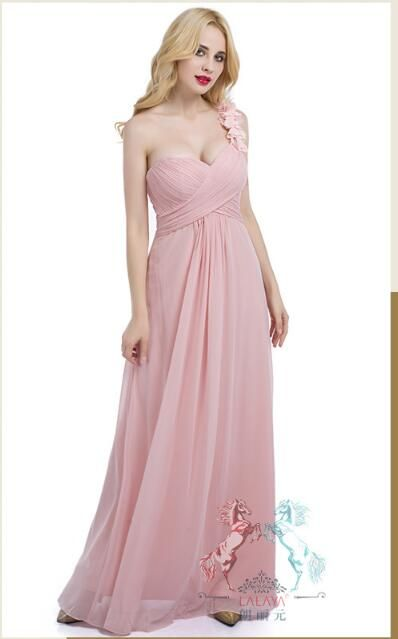 d00a79c37d704 New Arrival Light Pink Long Bridesmaid Dress 2019 Plus Size Ruffle Women'S  Party Dresses.Formal Gowns ,Long Prom Dress, Hand Made Flower Girls  Bridesmaids ...