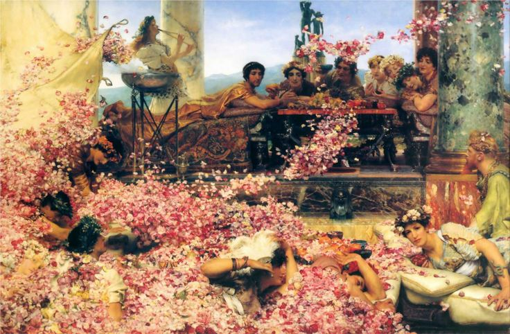 """""""The Roses of Heliogabalus"""" by Sir Lawrence Alma-Tadema, 1888  Style: Romanticism"""