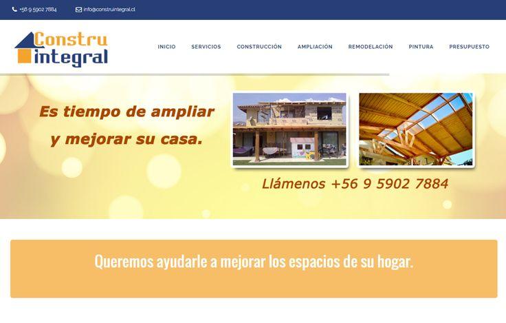 Sitio web www.construintegral.cl para nuestro cliente Constru Integral. Versión 2016.