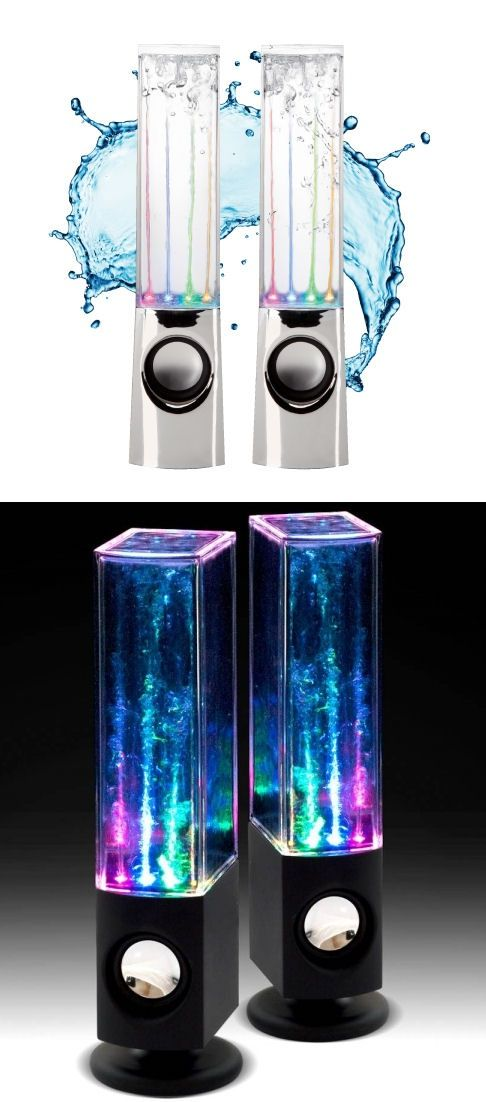 ► Dancing Water Speakers ~ kids will love watching them dance as they play there music!