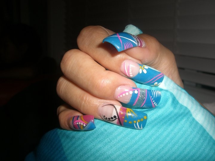 Image detail for -Easy Nail Designs | Sinaloa Nails, Uñas estilo Sinaloa, Nails Sinaloa ...