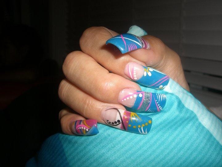Easy Nail Designs | Sinaloa Nails, Uñas estilo Sinaloa, Nails Sinaloa ...