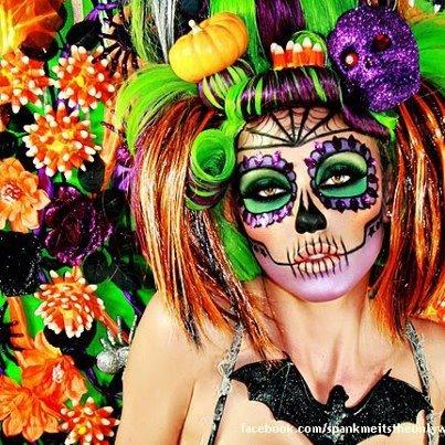 Wow: Halloween Costumes, Halloween Makeup, Makeup Ideas, Of The, Sugar Skull Makeup, Dead, Candy Skull, Day, Halloween Ideas