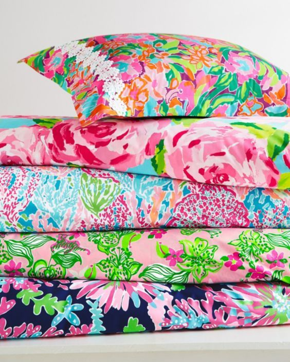 Lilly Pulitzer duvet covers and shams