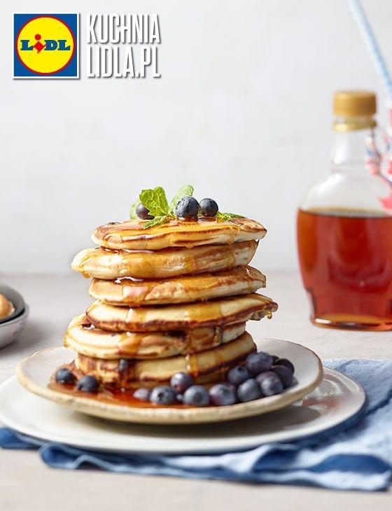Pancakes z borówkami. Kuchnia Lidla - Lidl Polska. #johnjames #pancakes #borowki