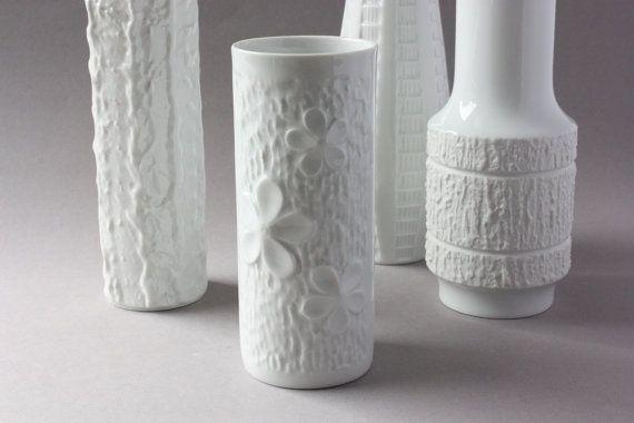 Mitterteich Vase weiß Porzellanvase Blumenvase von wohnraumformer