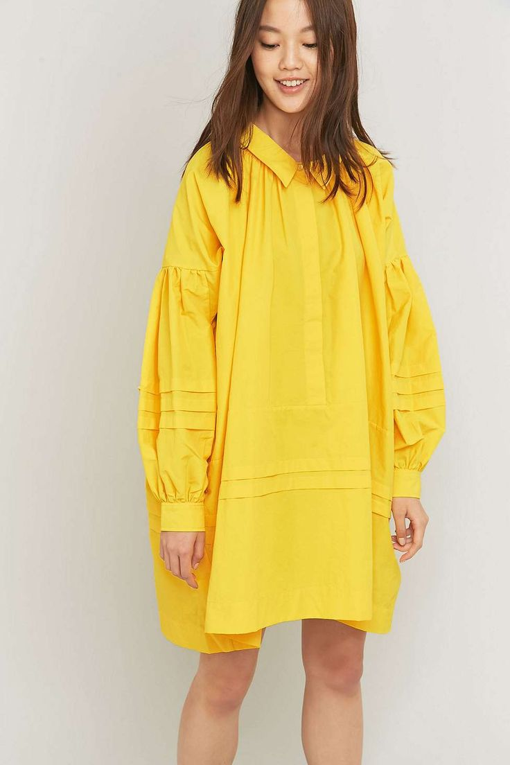 Peter Jensen Yellow Artist Smock Dress