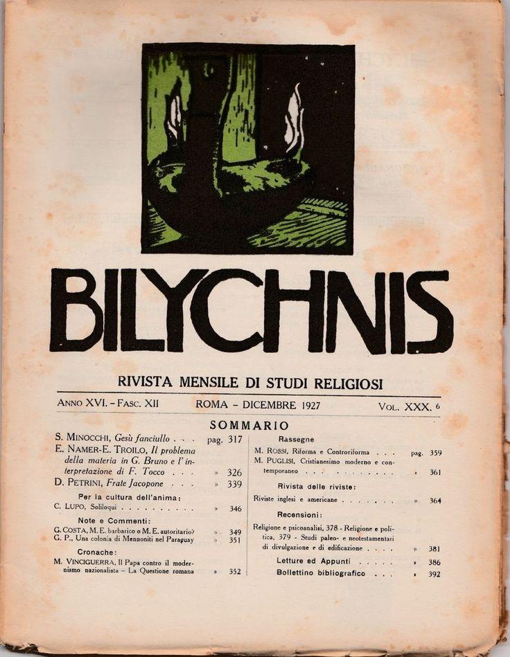 AA.VV. Bilychnis rivista mensile di studi religiosi dicembre 1927 L5547