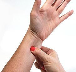Reduce anxiety, depression and irritability—in only two to three minutes. Location: On the inner side of the forearm, three finger widths up (toward the elbow) from the center of the wrist crease, in between two thick tendons. What to do: Place your thumb on this point and your fingers directly behind the outside of the forearm between the two bones. Squeeze this slowly and firmly, hold for two to three minutes, while breathing deeply. Repeat on the other arm for the same amount of time.