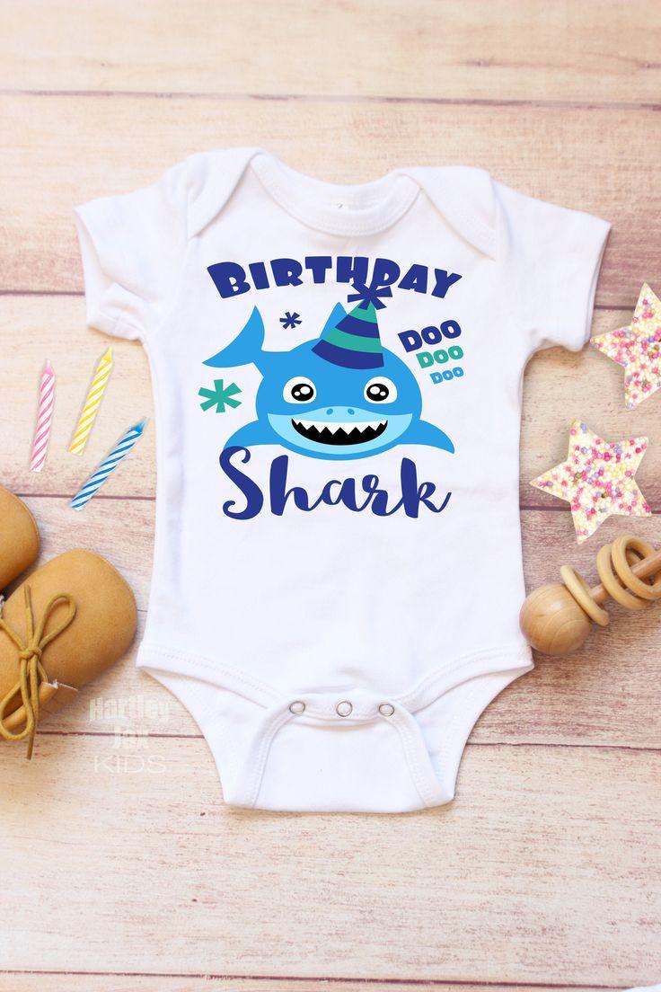 Shark 1st Birthday Boy Outfit, Jaws 1st Birthday, One Year