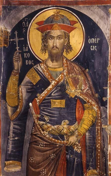 Saint James (Jacob) the Persian - Great Martyr. Died 421 cut to pieces. Feast Day November 21. Looks Byzantine. No credit/date.