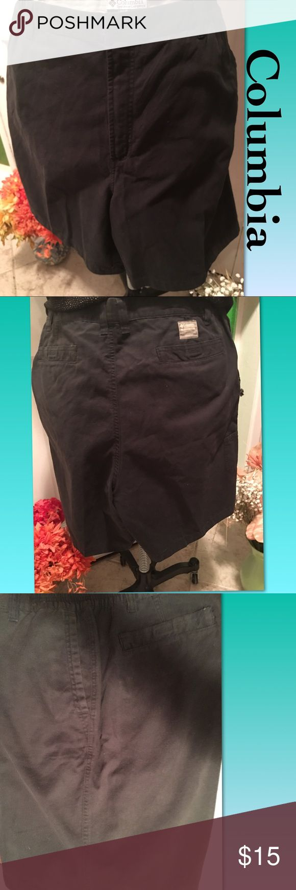 "Columbia Plus Size 20W Cool For Summer Shorts Columbia Sportswear Company-Black Cool Summer Shorts Plus Size 20W - Made of 💯% Cotton, there two side slit pockets, two back Velcro pockets and a snap and zipper closure. There's also Measurements laying flat are 20"" waist; 8"" inseam-Crotch to hem; 20.5"" waist to hem. Excellent Condition! Columbia Shorts"