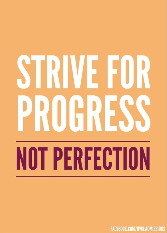 striving for perfection We cannot ever rest in our struggle to become more like christ.