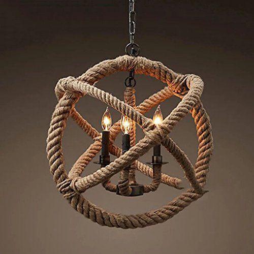 Sxdg Wind Retro Hemp Rope Chandelier Creative Https Www