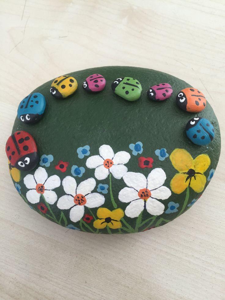 dekoratif taş boyama