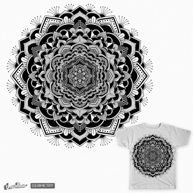 The symmetry on Threadless