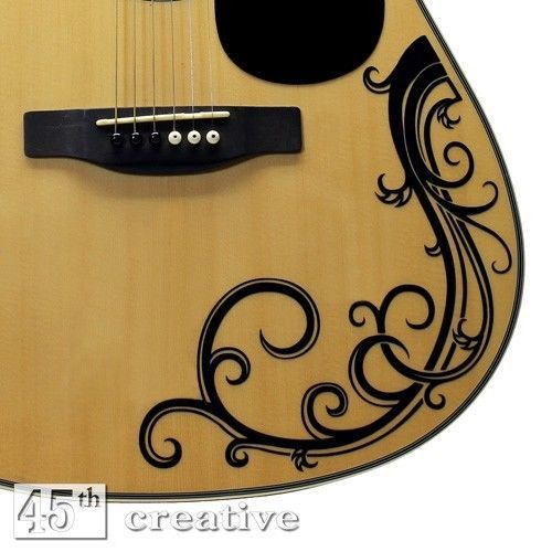Acoustic Guitar Vine Decal Full Size Dreadnought Acoustic