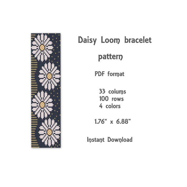Daisy Loom bracelet pattern Loom stitch bracelet pattern