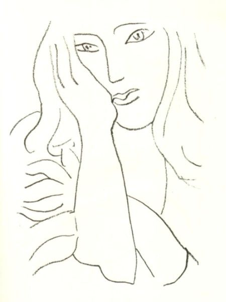 Matisse Contour Line Drawing : De bedste idéer til matisse paintings på pinterest