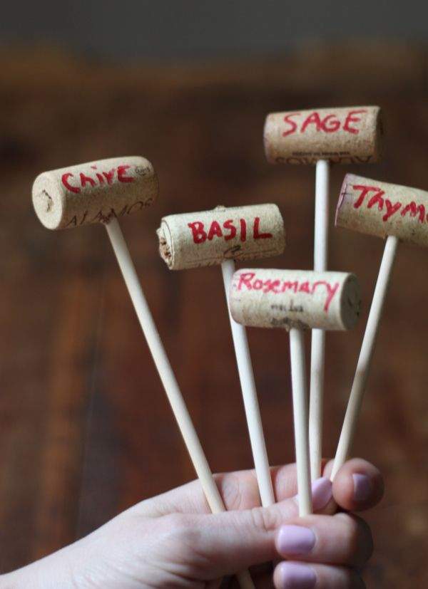 How To: Wine Cork Garden Markers
