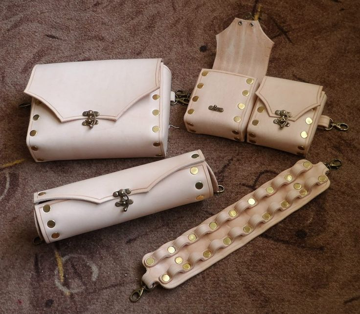 Bags, telescope case and dart holster for steampunk set