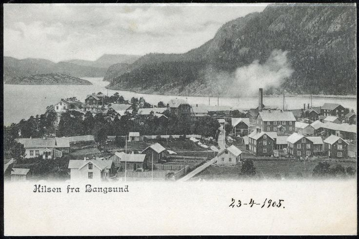 Nord-Trøndelag fylke Namsos kommune BANGSUND. Oversikt over stedet datert 1905.