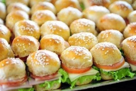 Resultado de imagen para mini sanduiches para festas